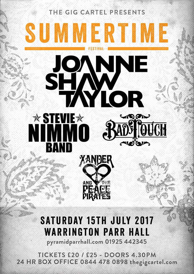 Summertime Festival Warrington Event Poster Joanne Shaw Taylor