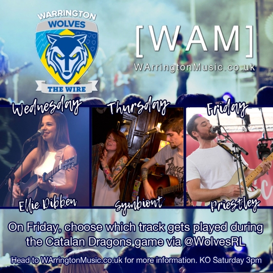 Warrington Wolves Ellie Dibben Symbiont Priestley Music