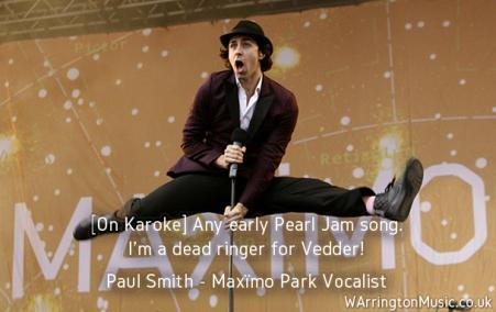 Paul Smith Maximo Park Karoke