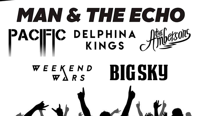 Independent Venue Week Parr Hall Showcase man and the echo pacific delphina kings ambersons weekend wars big sky