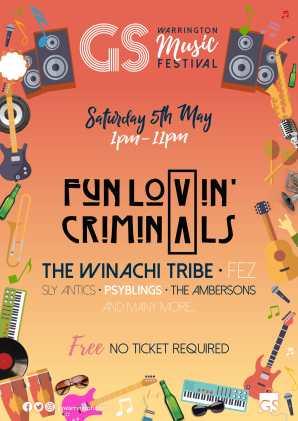 GS Music Fest 2018 Poster Golden Square Warrington Music Festival