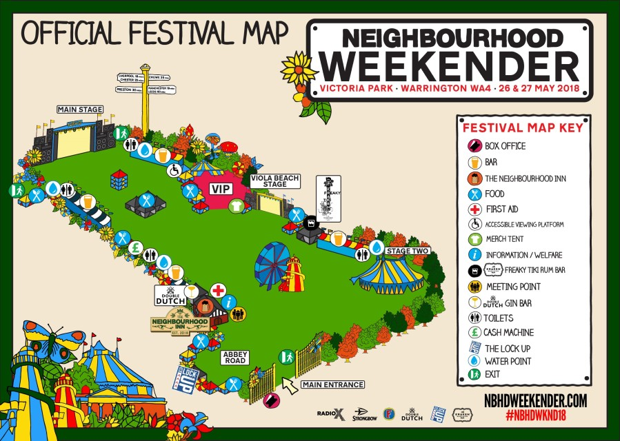 Neighbourhood Weekender Map
