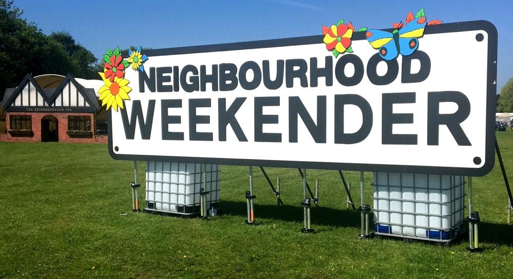 NBHD SIGN Neighbourhood Weekender Sign