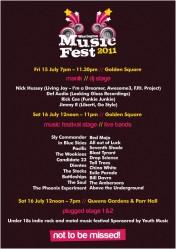 Warrington Music Festival 2011