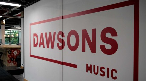 dawsons music logo office