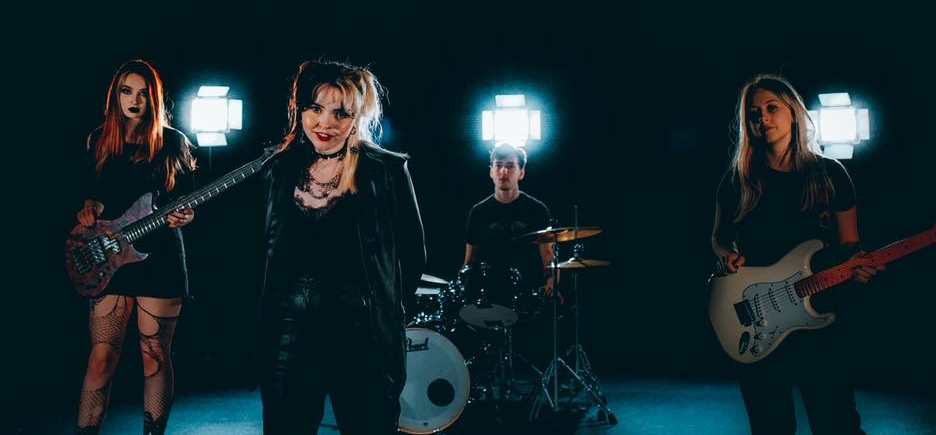 Crawlers at their Music Video shoot for 'Hush'
